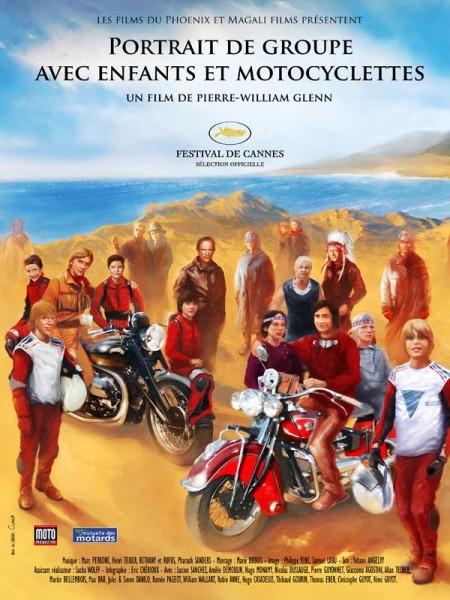 Cine974, Portrait de groupe avec enfants et motocyclettes