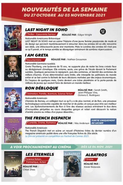 Programme semaine 43 (2021)