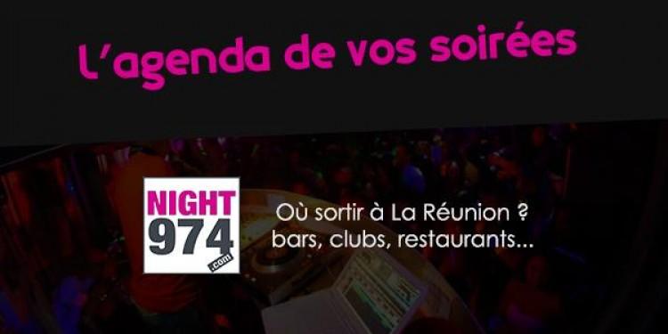 ✨ L'agenda des soirées à La Réunion sur Night974 ??