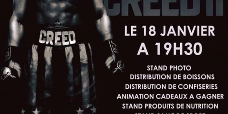 Ce soir au Cinepalmes c'est la soirée spéciale CREED II