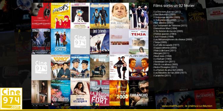 Films sortis un 02 février