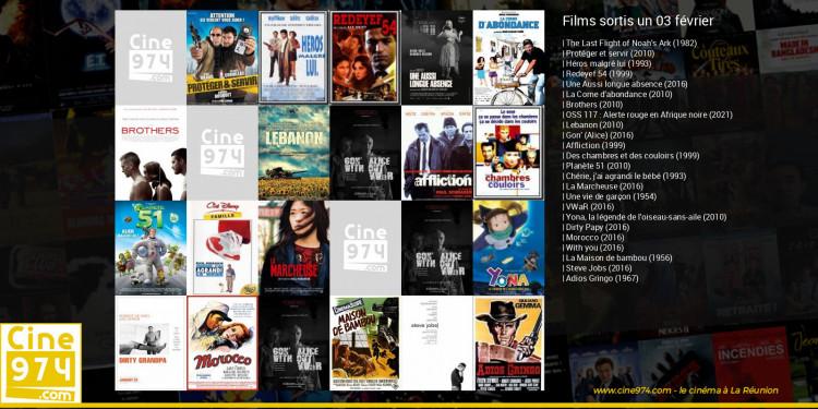 Films sortis un 03 février