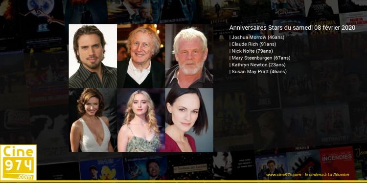 Anniversaires des acteurs du samedi 08 février 2020