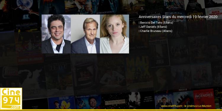 Anniversaires des acteurs du mercredi 19 février 2020