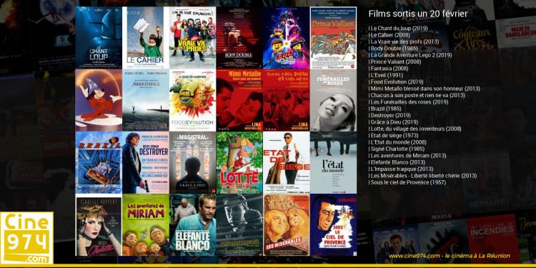 Films sortis un 20 février