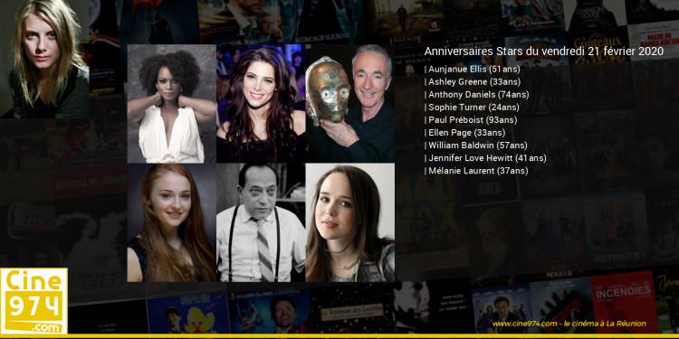 Anniversaires des acteurs du vendredi 21 février 2020