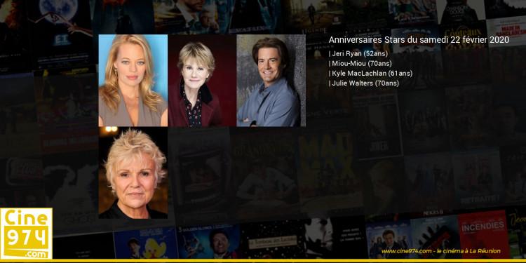 Anniversaires des acteurs du samedi 22 février 2020