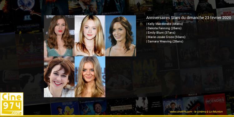 Anniversaires des acteurs du dimanche 23 février 2020