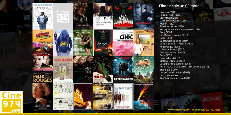 Films sortis un 03 mars