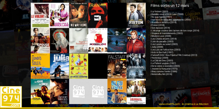 Films sortis un 12 mars