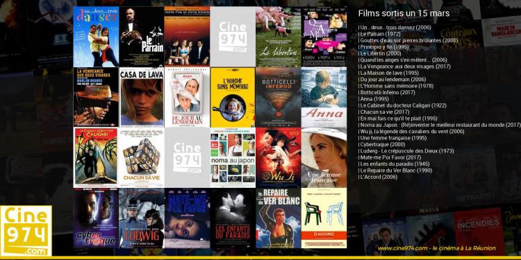 Films sortis un 15 mars