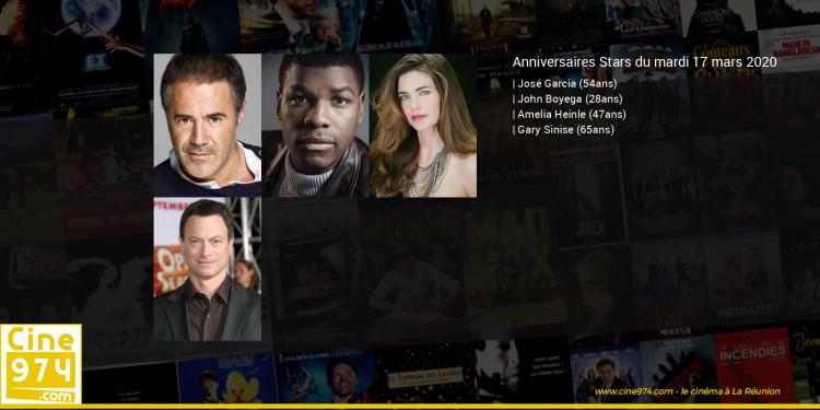 Anniversaires des acteurs du mardi 17 mars 2020