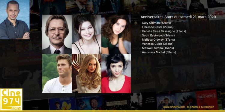 Anniversaires des acteurs du samedi 21 mars 2020