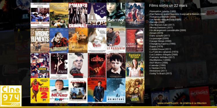 Films sortis un 22 mars