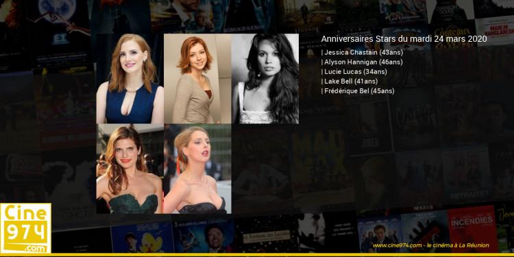 Anniversaires des acteurs du mardi 24 mars 2020