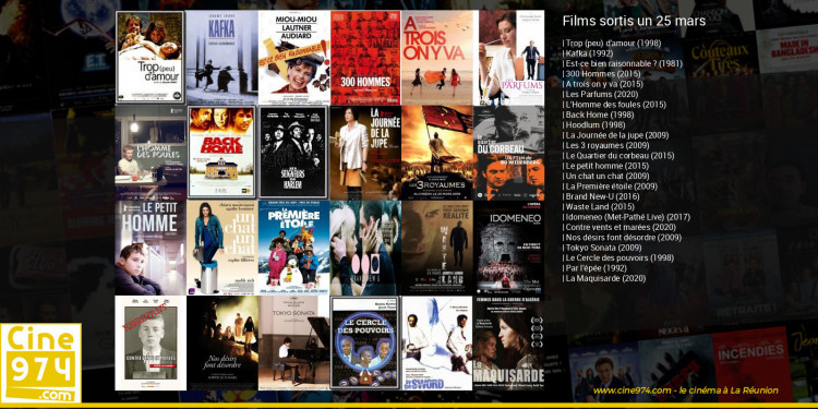 Films sortis un 25 mars
