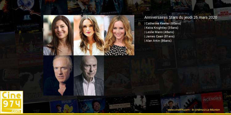 Anniversaires des acteurs du jeudi 26 mars 2020