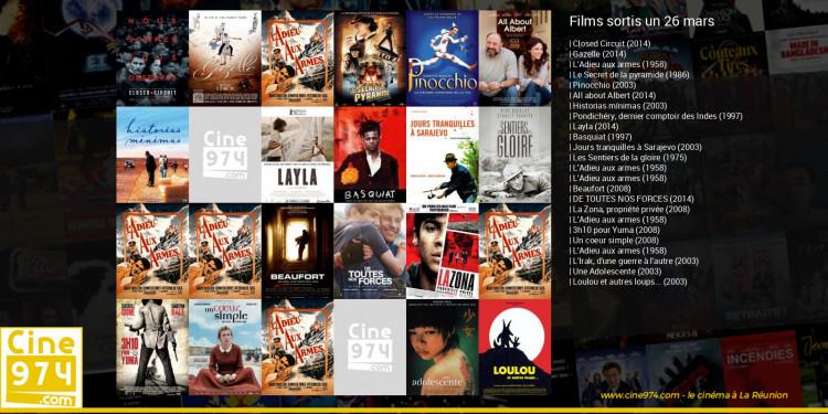 Films sortis un 26 mars