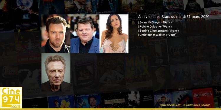 Anniversaires des acteurs du mardi 31 mars 2020