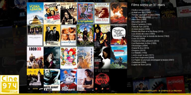 Films sortis un 31 mars