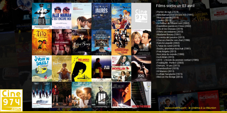 Films sortis un 03 avril
