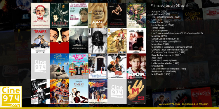 Films sortis un 08 avril