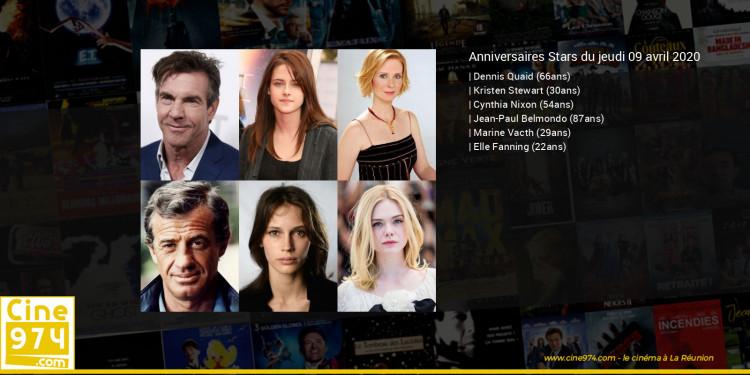 Anniversaires des acteurs du jeudi 09 avril 2020