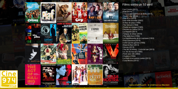 Films sortis un 10 avril