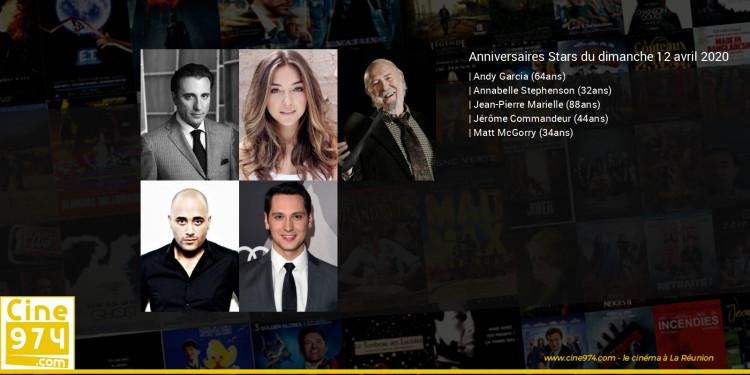 Anniversaires des acteurs du dimanche 12 avril 2020