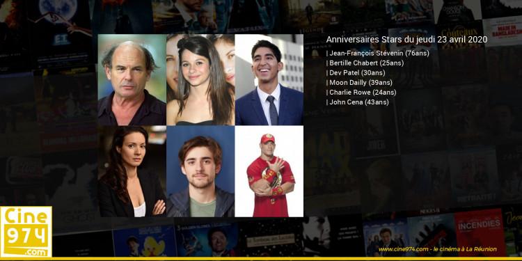 Anniversaires des acteurs du jeudi 23 avril 2020