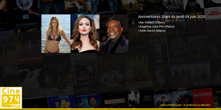 Anniversaires des acteurs du jeudi 04 juin 2020
