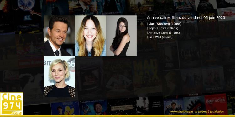 Anniversaires des acteurs du vendredi 05 juin 2020