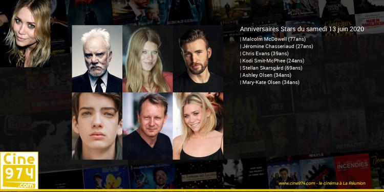 Anniversaires des acteurs du samedi 13 juin 2020