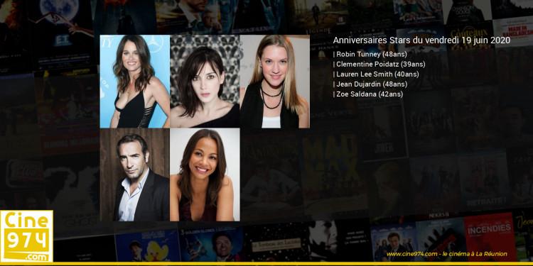 Anniversaires des acteurs du vendredi 19 juin 2020