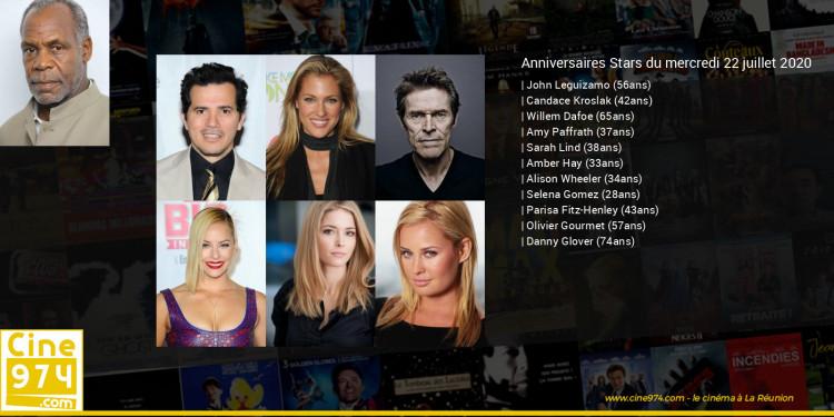 Anniversaires des acteurs du mercredi 22 juillet 2020