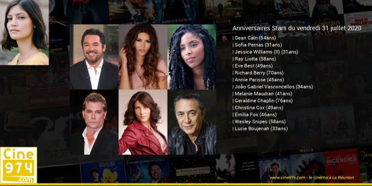 Anniversaires des acteurs du vendredi 31 juillet 2020