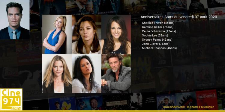 Anniversaires des acteurs du vendredi 07 août 2020
