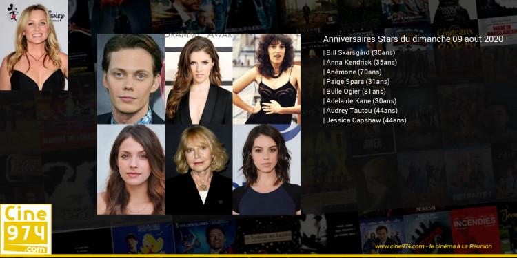 Anniversaires des acteurs du dimanche 09 août 2020