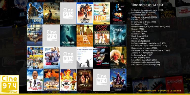 Films sortis un 13 août