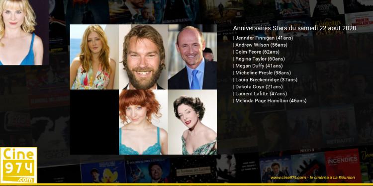 Anniversaires des acteurs du samedi 22 août 2020
