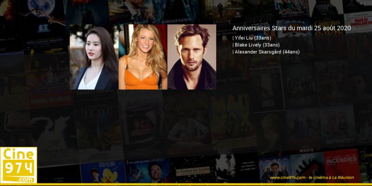 Anniversaires des acteurs du mardi 25 août 2020