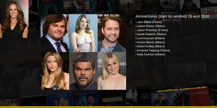 Anniversaires des acteurs du vendredi 28 août 2020