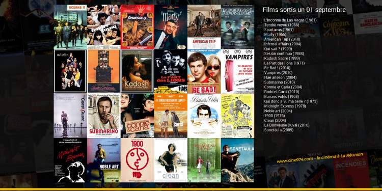 Films sortis un 01 septembre