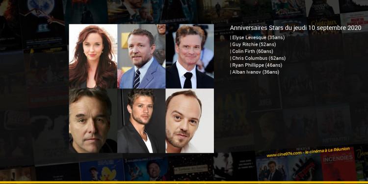Anniversaires des acteurs du jeudi 10 septembre 2020