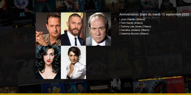 Anniversaires des acteurs du mardi 15 septembre 2020