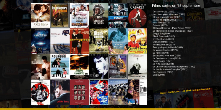 Films sortis un 15 septembre