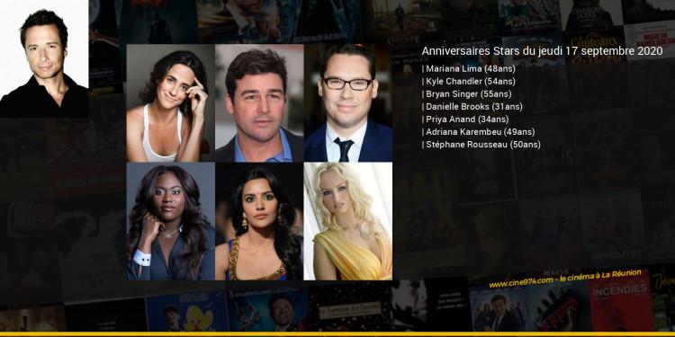 Anniversaires des acteurs du jeudi 17 septembre 2020