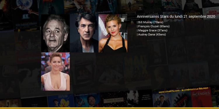 Anniversaires des acteurs du lundi 21 septembre 2020