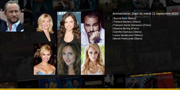 Anniversaires des acteurs du mardi 22 septembre 2020
