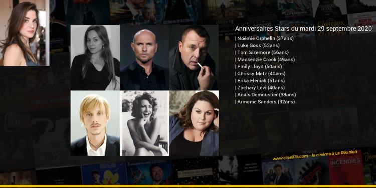 Anniversaires des acteurs du mardi 29 septembre 2020